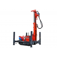 Dth 200m Hydraulic Track Mounted Drill Rig With Mud Pump Manufactures