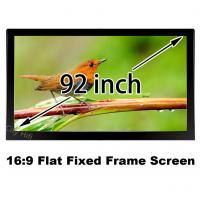 """Brilliant Picture 92"""" Flat Fixed Frame Cinema Projection Screen 16:9 Format Support 4K Manufactures"""