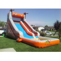 Outside Playground Inflatable Water Slide With Mini Pool For Summer CE UL Manufactures