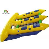 6 Person Seat Inflatable Flying Fish Tube Banana Boat For Summer Sport Water Game Manufactures