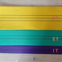 Buy cheap 1-12 ton ISO approved PE / PP sling polyester layers flat belt / web strap / from wholesalers