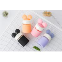 China mickey ear silicone rubber cover Glass mug with bounce cover Creative ironing fashionable radish on sale