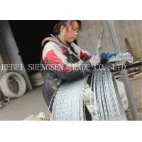 High Carbon Steel Sharp Razor Fence Wire 22mm Length For Government Buildings Manufactures