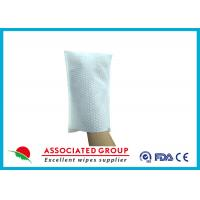 Big Pearl Dot Spunlace Scrub Gloves Boby Washing Material Square Shape Manufactures