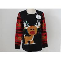 OEM Unisex Embroidery Knitting Ladies Ugly Christmas Sweater With LED Lights Manufactures