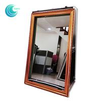 Touch screen mirror touch screen booth 55inch magic mirror selfie booth case Manufactures