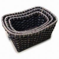 Buy cheap Wooden Basket, Used for Packaging Fruit and Cookies, Various Colors are from wholesalers