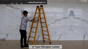 Anti Slip 1.6m 2X6 Fiberglass Step Ladder Manufactures