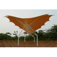 China Waterproof Tentioned Membrane With High Strength Steel Structure Stadium Awning on sale