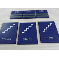 """Thermoforming ADA Stair Signs Round Grade II Braille 1/32"""" Raised Text / Graphic Manufactures"""