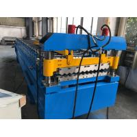 380V 50Hz 3 Phases Roof Panel Roll Forming Equipment Manual Decoiler 20GP Container Manufactures