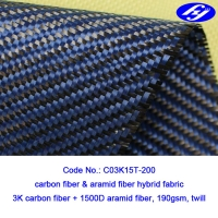 Buy cheap Twill Woven Blue Carbon Aramid Fabric / 2x2 0.28MM Thickness Carbon Kevlar from wholesalers