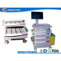 Quality Luxurious Wireless Nursing Trolley Hospital Medical Cart , hospital computer for sale