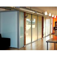 Opaque Milk White Glass Panel Office Partitions , Glass Partition Panels Manufactures