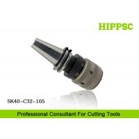 High Accuracy Power Tool Holder 0.003mm Runout With Hook Spanner , SK40 Spindle Type