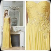 China Yellow Multi Colored Bridesmaid Dresses Zuhair Murad Gowns For Wedding Party on sale