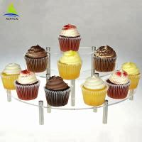 3 Tier Acrylic Cake Display Buffet Pastry Curate Acrylic Cupcake Dessert Tower Manufactures