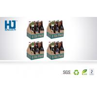 Six Bottle Cardboard Beer Cardboard Bbeverage Pop Up Display Stand  With Corrugated Paper Manufactures