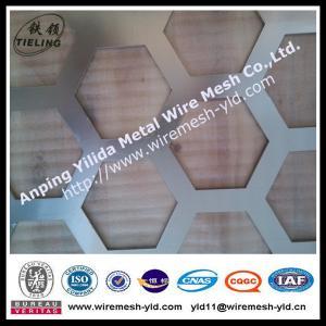 big hexagonal hole aluminum perforated metal for decoration Manufactures