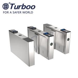 Half Height Flap Barrier Turnstile 100-240V Security IC ID QR RFID Card Reader Manufactures