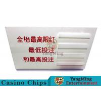 Baccarat Dedicated Casino Game Accessories Poker Game Table Bet Limit Sign Manufactures