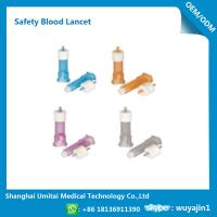 Pressure Activated Disposable Blood Lancets For Diabetes OEM / ODM Available Manufactures