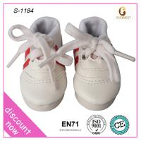 Chinese custom white sport doll shoes for baby dolls Manufactures