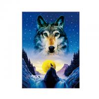 Animal 3D Lenticular Pictures For Office Decoration / 3D Wolf Picture Manufactures