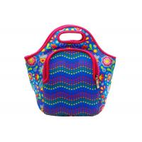 Sublimated 4mm Neoprene Lunch Tote Bag Water Resistant With Front Zipper Pocket Manufactures
