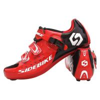 Red Road Racing Bicycle Shoes , Sidebike Road Cycling Shoes Good Shock Absorption Manufactures