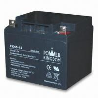 Backup Battery with 12V Voltage, 45Ah Capacity, Available in Black Color, Measures 197 x 165 x 170mm Manufactures
