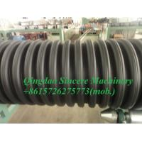 China HDPE corrugated water drainage pipe extrusion line with inner ribs reinforced on sale