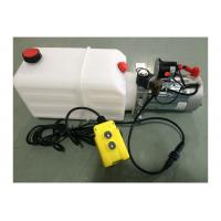Dump Trailer Hydraulic Power Pack Plastic Tank , DC 12V 2000W Manufactures