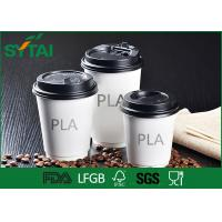 China Healthy Hot Drink PLA Paper Cups , Coffee Cups To Go With Lids Simple Design on sale