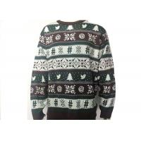 China Adult Mens Ugly Christmas Sweater Merry X - Mas Full Knitted Jacquard Pattern on sale