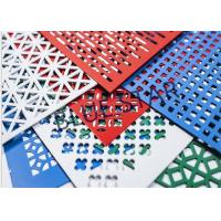 Aluminum Perforated Metal Sheet Round / Crocodile Jaw Hole 45° / 60° Puchend Hole Mesh Manufactures