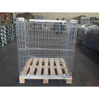 Half Drop Gate Collapsible Wire Container Logistics Wine Industry Use Manufactures