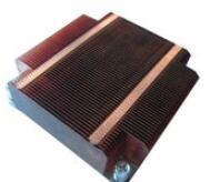 China Round Heat sink Silver Cooler Copper Fin Heat Sink Aluminum Heat Sinks Cooling Fin Thin Fin GS ROHS on sale