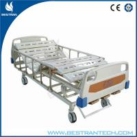 China 3 - Crank Steel Patient Manual Hospital Beds With 10 - Part Bedboard , IV Pole on sale