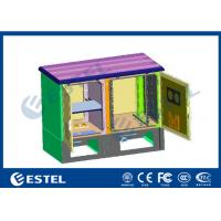 Custom Base Station Cabinet Two Compartment 14U Space Height Outdoor Manufactures