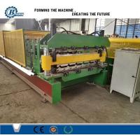 Aluminium Color Coated Metal Roll Forming Machine For Wall And Roof Cladding Manufactures