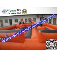 Orange Square Inflatable Gladiator Joust / Durable Inflatable Jousting Arena Manufactures