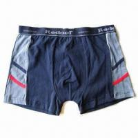 Boxer Shorts, Made by Bamboo Charcoal and Copper Yarn, Anti-bacterial Manufactures