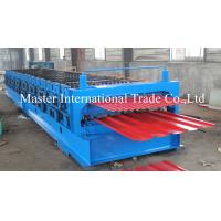 Cheap Corrugated and Box Type Roofing Sheet Roll Forming Machine with 75 mm solid shaft for sale