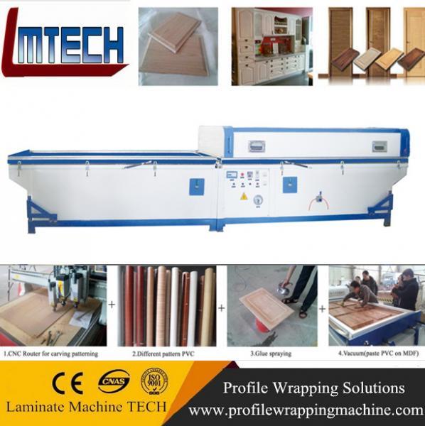 wood grain kitchen cabinet door vacuum membrane press machine