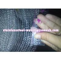 Quality Crimped / Flat Monel 400 Knitted Mesh Silver White For Oil - Gas Separation for sale