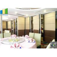 Cheap Meeting Room MDF Folding Partiion Walls , Hotel Operable Partition Walls for sale