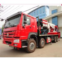 12 Wheeler 8x4 50 Ton Truck Mounted Knuckle Boom Cranes 50m Working Height Manufactures