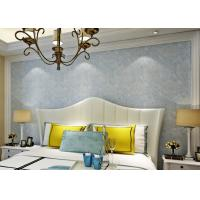 Cheap Soundproof Removable European Style Wallpaper , Blue 3d Silver Wallpaper for sale
