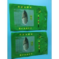 Custom Printed Green 3 Sided Sealed Composite Fish Bag With Transparent Window In Front Manufactures
